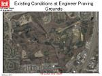 existing conditions at engineer proving grounds