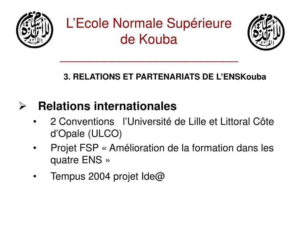 L'Ecole Normale Supérieure de Kouba