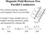magnetic field between two parallel conductors
