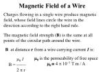 magnetic field of a wire