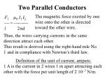 two parallel conductors