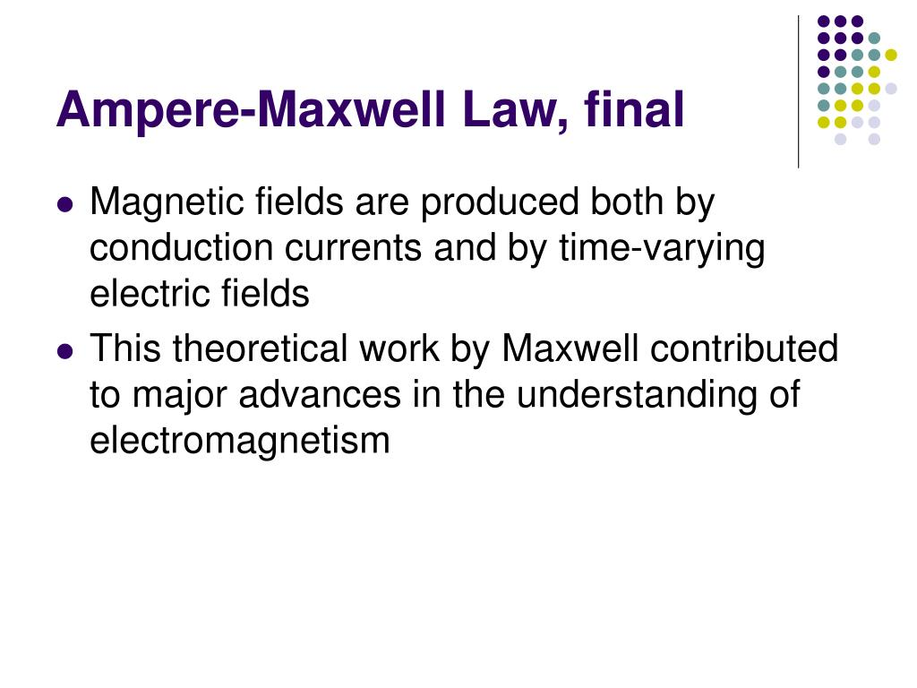 Ampere-Maxwell Law, final