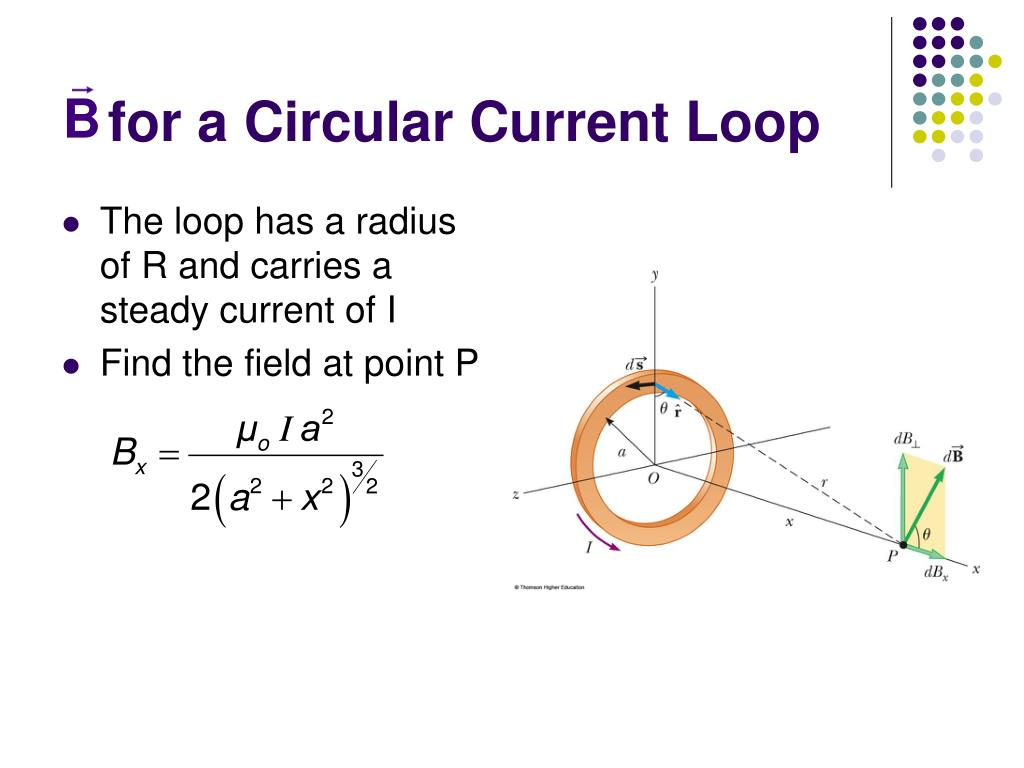 for a Circular Current Loop