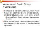 mexicans and puerto ricans a comparison