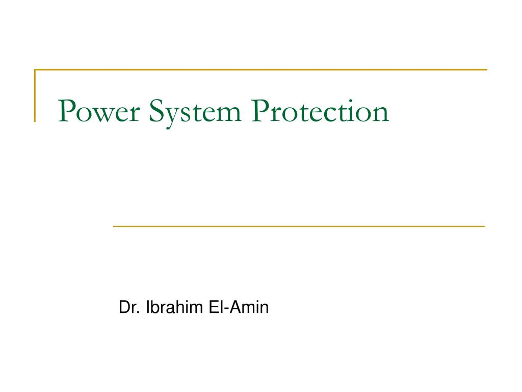 power system protection l.