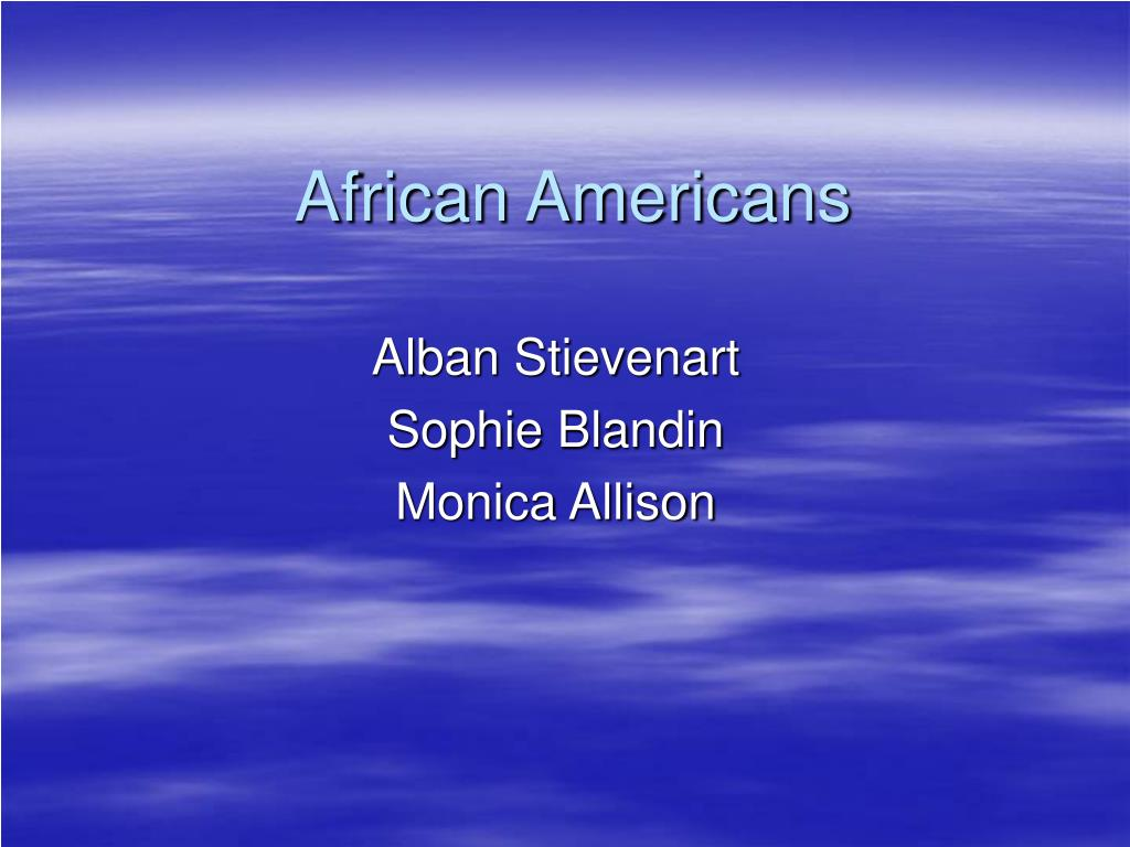 african americans l.
