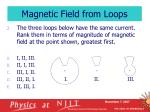magnetic field from loops