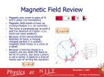 magnetic field review