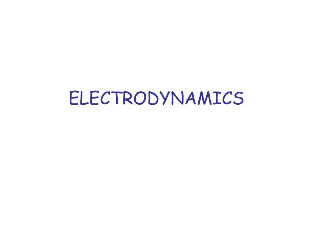 electrodynamics l.