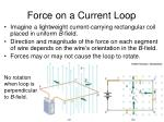 force on a current loop