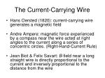 the current carrying wire