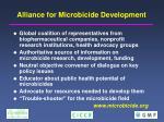 alliance for microbicide development
