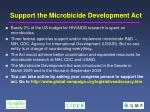 support the microbicide development act