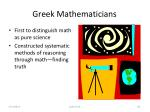 greek mathematicians