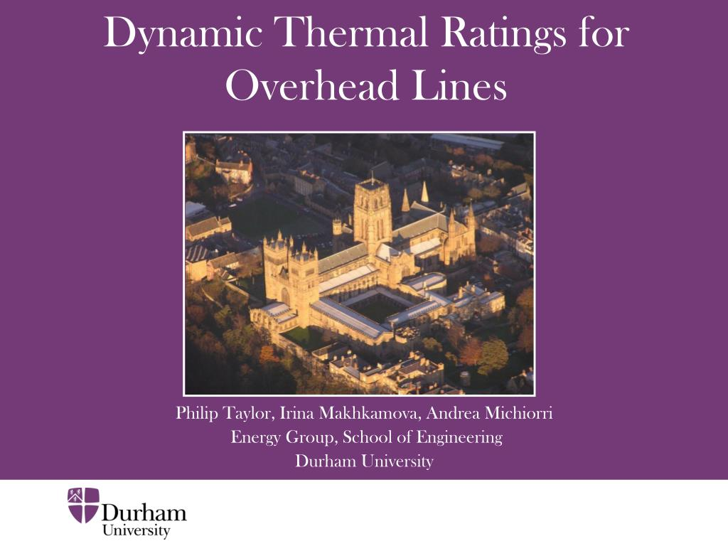 dynamic thermal ratings for overhead lines l.