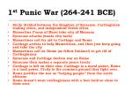 1 st punic war 264 241 bce