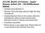 216 bc battle of cannae major roman defeat 30 60 000romans killed