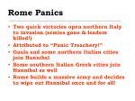 rome panics