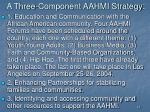 a three component aahmi strategy