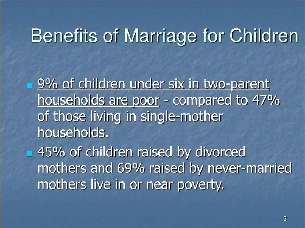 Benefits of Marriage for Children