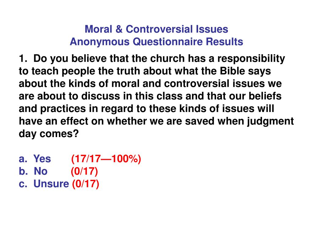 Moral & Controversial Issues