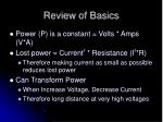 review of basics