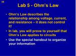 lab 5 ohm s law