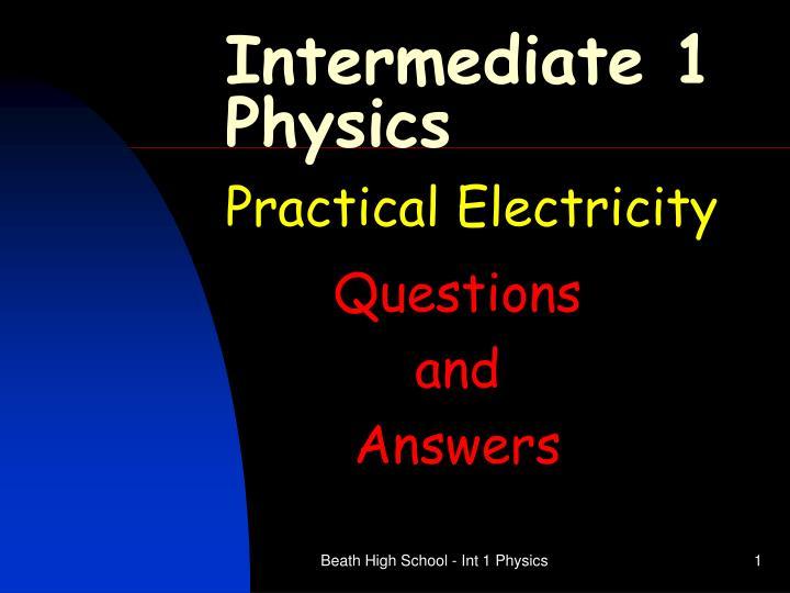 intermediate 1 physics n.