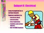 subpart k electrical