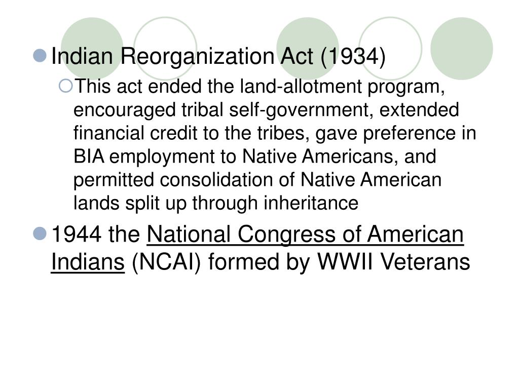 Indian Reorganization Act (1934)