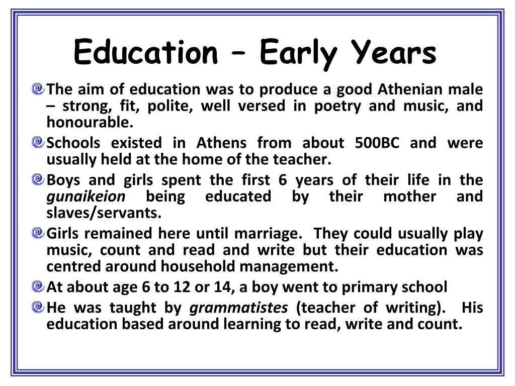 Education – Early Years