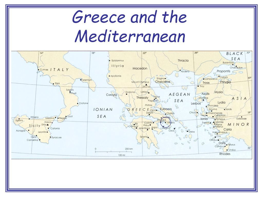 Greece and the Mediterranean