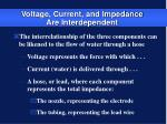 voltage current and impedance are interdependent