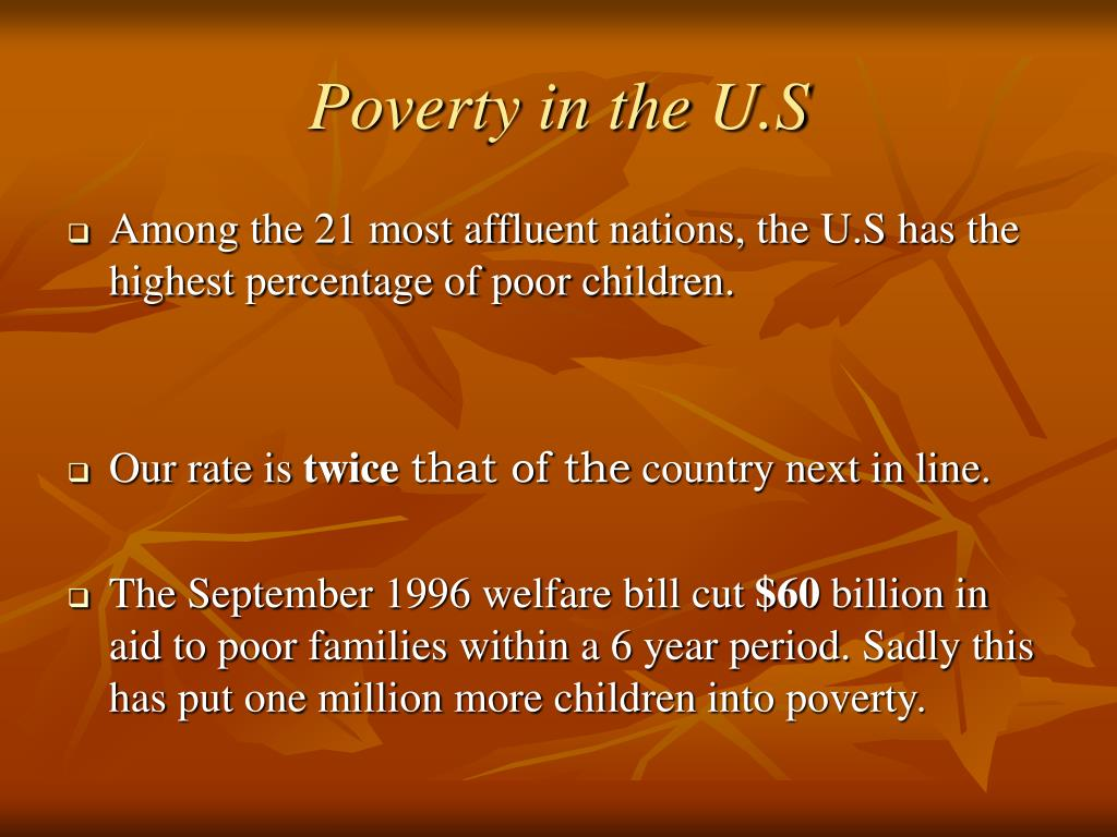 Poverty in the U.S