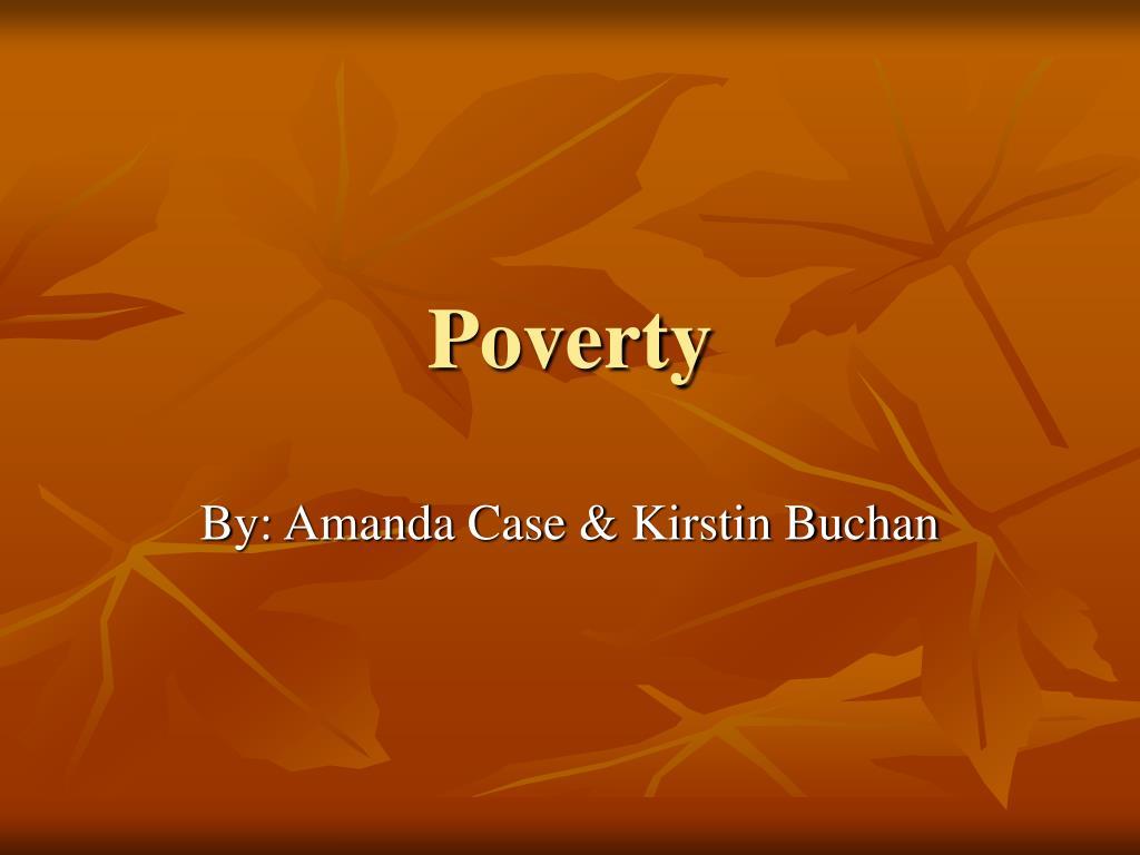 poverty l.