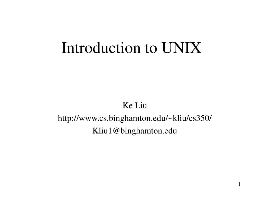 introduction to unix l.