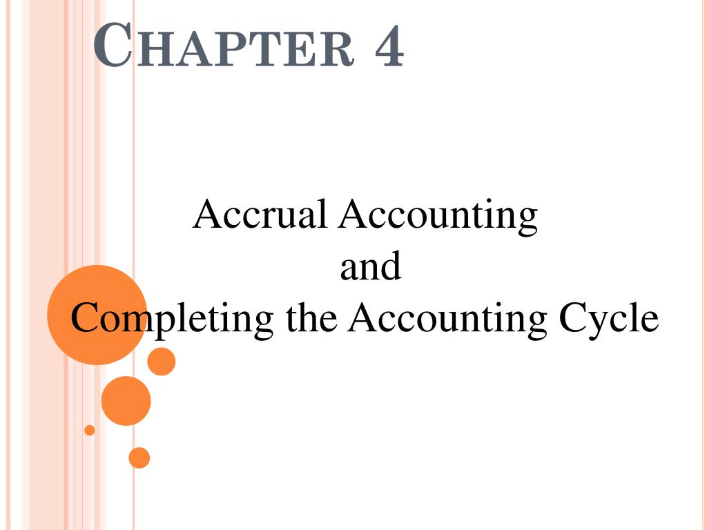 Accrual Accounting