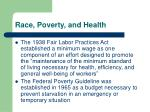 race poverty and health23