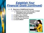 establish your financial goals continued23