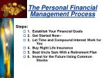 the personal financial management process