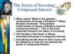the secret of investing compound interest