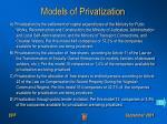 models of privatization
