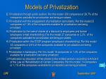 models of privatization14