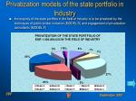 privatization models of the state portfolio in industry