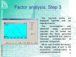factor analysis step 3