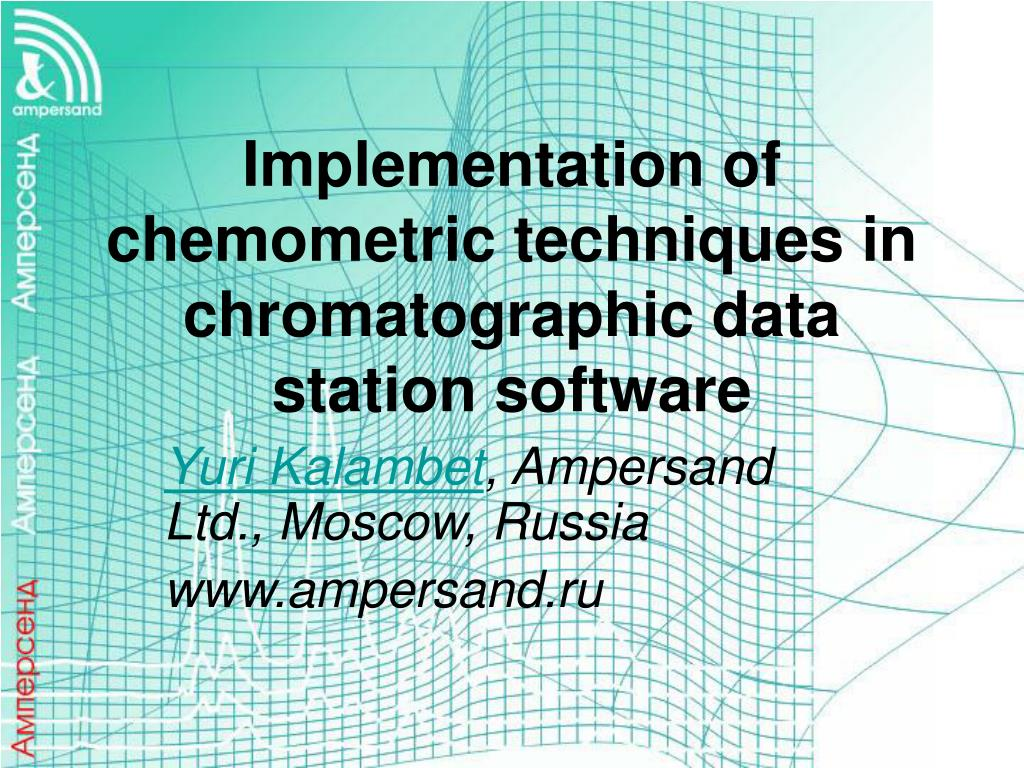 implementation of chemometric techniques in chromatographic data station software l.