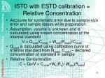 istd with estd calibration relative concentration