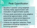 peak quantification