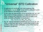 universal istd calibration