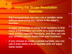 using the scope resolution operator